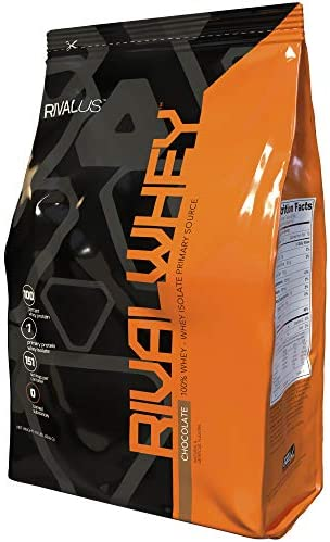 Rivalus Rivalwhey Chocolate 10lb – 100 Whey Protein, Whey Protein Isolate Primary Source, Clean Nutritional Profile, BCAAs, No Banned Substances, Made in USA