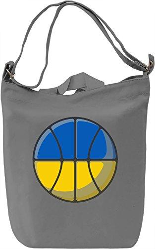 Ukraine Basketball Borsa Giornaliera Canvas Canvas Day Bag| 100% Premium Cotton Canvas| DTG Printing|