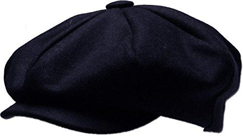 Apple Cap Newsboy Hat - KBETHOS KBW-319 Nav L/XL Solid Oversized Applejack Ascot Ivy Newsboy Hat