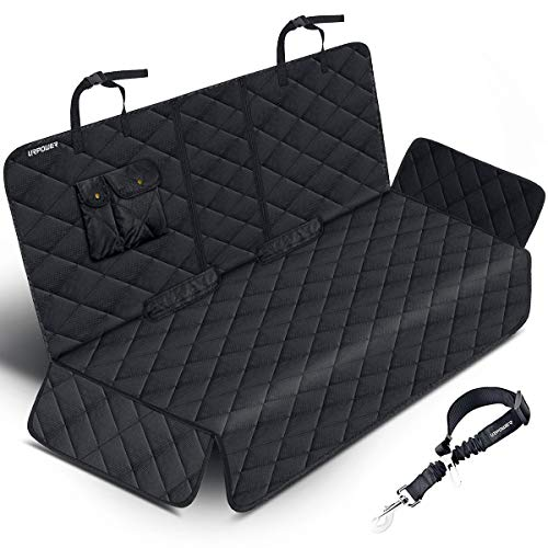 URPOWER Dog Seat Covers 100% Waterproof Pet Car Seat Cover Nonslip Bench Seat Covers Armrest Compatible for Back Seat with Pet Seat Belts for Cars Trucks & SUVs - Vision Seat Cover