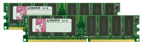 (Kingston 2GB KIT 400MHZ DDR PC3200 (KVR400X64C3AK2/2G) (2 x 1 GB))