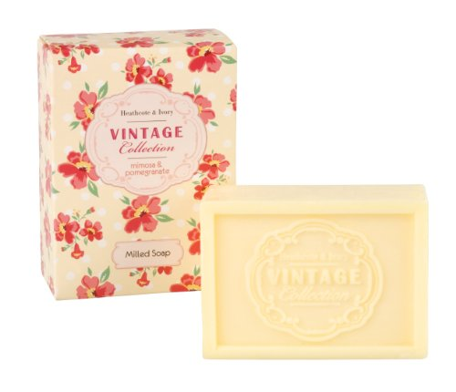 Heathcote & Ivory Vintage Collection Mimosa & Pomegranate Milled Soap by Healthcenter (Vintage Ivory Soap)