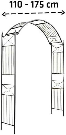 Arco para Flores Flexi I Arco para Jardín de Metal I Arco Decorativo para Jardín I Arco de Flores Ancho Ajustable I Color:, Color:Negro: Amazon.es: Jardín