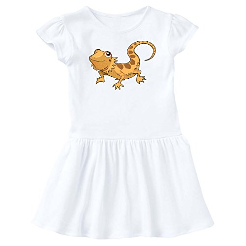 inktastic Cute Bearded Dragon Infant Dress 24 Months White 28882