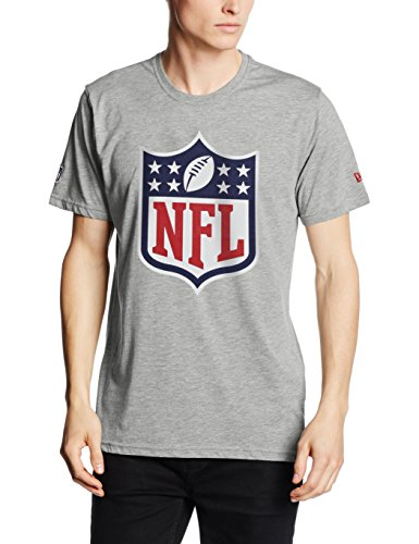 New Era Nfl Logo T-Shirt, Gray, M