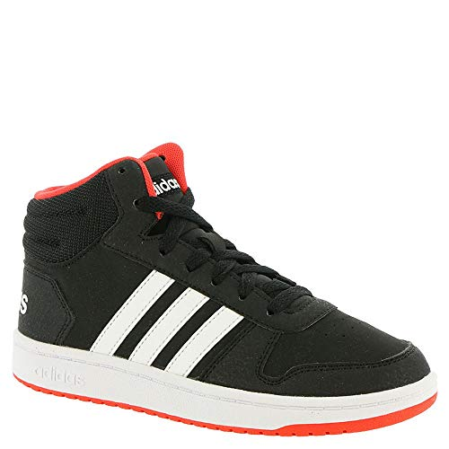 adidas Kids Unisex's Hoops Mid 2.0 Basketball Shoe, black/white/red, 2.5 Little Kid