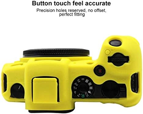 Black Ychaoya Camera Case Wuzpx Indulgent Silicone Protective Case for Canon EOS RP Color : Yellow