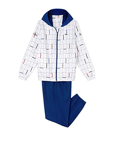- Lacoste Men's Printed Tracksuit White in Size 5/L