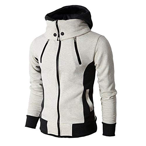 Sumen Men Clothing Clearance! Autumn Winter Casual Long Sleeve Hooded Cardigan Jacket with Zipper by Sumen Men