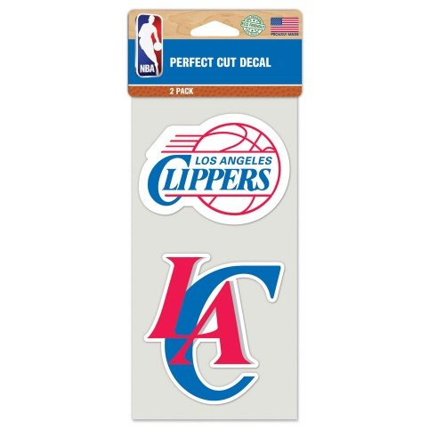 Los Angeles Clippers Perfect Cut Decal Set Of Two 4