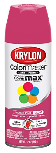 Krylon K05357100 5 Ball Decorator Mambo Pink Gloss Spray Ena