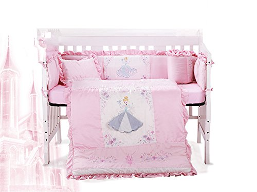 Lotus Karen Crib Bedding Sets For Girls KPCB001 2018 New Design Sweet Korean Princess Style Exquisite Embroidery Pattren Ruffles Crib Bedding