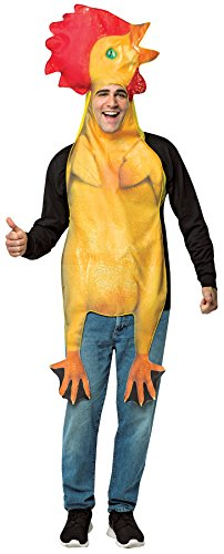 - UHC Men's Rubber Chicken Outfit Funny Comical Theme Party Halloween Costume, OS