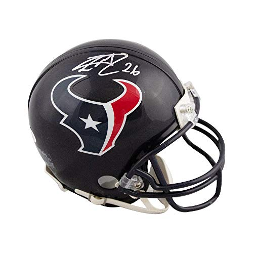 Lamar Miller Autographed Houston Texans Mini Football Helmet - JSA COA ()