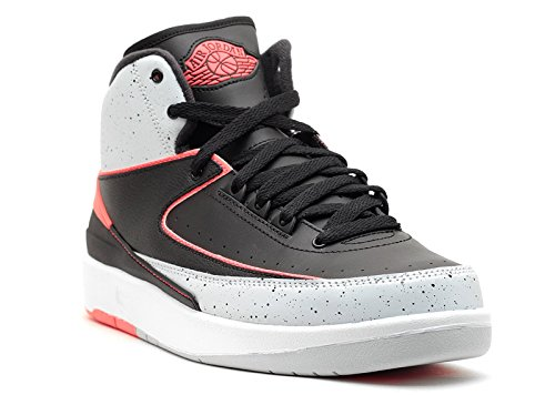 size 40 e45a0 de41c Galleon - NIKE Air Jordan 2 Retro BG Hi Top Trainers 395718 Sneakers Shoes ( UK 6 US 6.5Y EU 39, Black Infared23 Pure Platinum White 023)