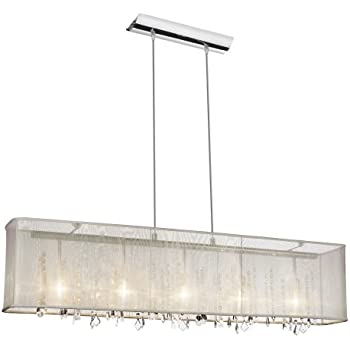 rectangular crystal chandelier with shade cry light organza polished chrome oyster sale lighting