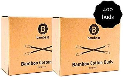Bastoncillos de Algodón de Bambú   Paquete de 2 (400 Unidades ...