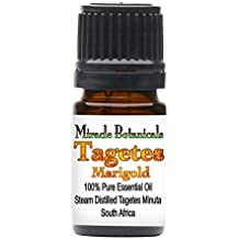 Miracle Botanicals Tagetes (Marigold) Essential Oil - 100% Pure Tagetes Minuta - Therapeutic Grade - 5ml