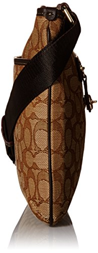 Whls Brown Li Taylor Womens Signature Crossbody Khaki COACH SW0xUzann