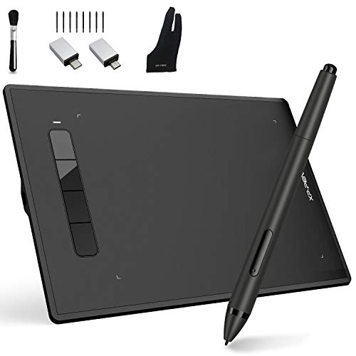 XP-PEN Star G960S Plus Graphic Tablet 9x6 inch Drawing Tablet for PC Tablet Mobile Phones with Battery-Free Tilt Support PH2 Stylus Digital Eraser (4 Shortcut Keys)