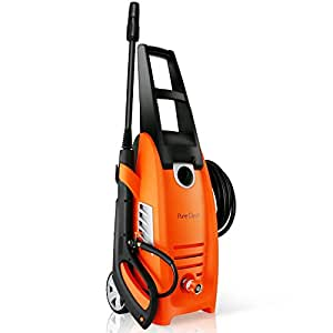 Serenelife Electric Pressure Washer-Powerful Heavy Duty 2000PSI Manual Adjustable High Low Cold Water Sprayer, Rolling Wheels-Power Wash Spray Clean Concrete Driveway Car Home SLPRWAS58