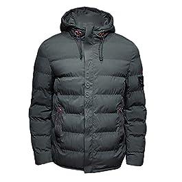 vermers Men Coat Men's Autumn Winter Pure Color Pocket Zipper Hooded Jacket Outwear Tops