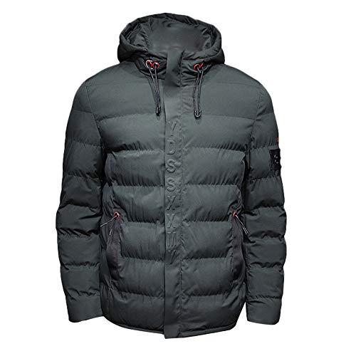 Clearance Sale! Caopixx Jackets for Men Winter Thicken Hooded Zipper Warm Parka Overcoat Outwear Down Jacket