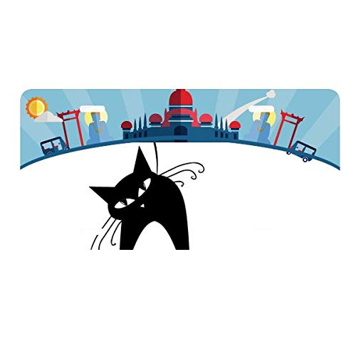 cold master DIY lab Halloween Black Cat Lover Animal Art Silhouette License Plate Car Decoration Thailand Phuket ()
