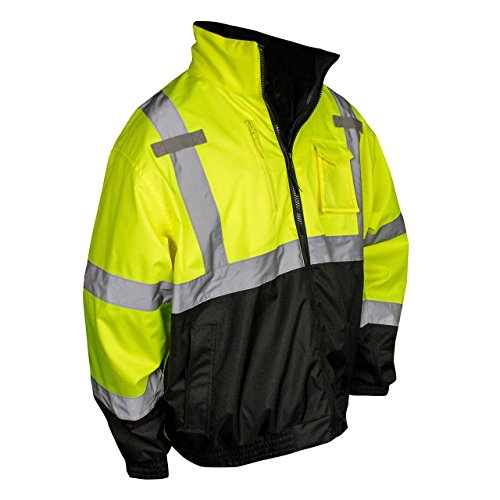 Radians SJ210B High Visibility Three-in-One Deluxe Bomber Jacket SJ210B-3ZGS Green - 2XL - PACK -