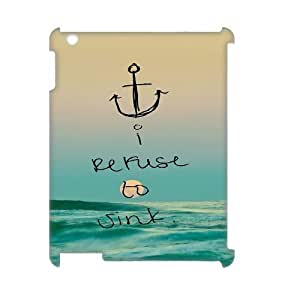 Customized Durable Case for Ipad 2,3,4 3D, I Refuse to Sink Phone Case - HL-R659189