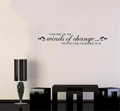 liotry Removable Vinyl Decal Art Mural Home Decor Wall Stickers Sometimes in The Winds Change We Find Our True ()