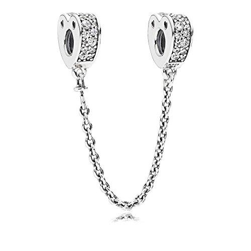 PANDORA - Cadena de Seguridad con Arcos Brillantes de Amor, CZ Transparente, 797138CZ-05