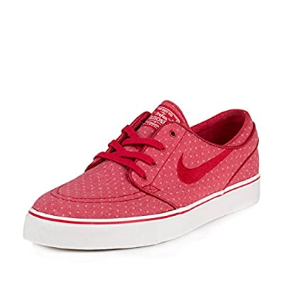 Nike Mens Zoom Stefan Janoski CNVS PRM Gym Red/Summit White Fabric Size 8.5