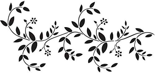 Delta Creative Stencil Magic Decorative Stencil 8.25 by 18-Inch 95-662 Delicate Vine Border