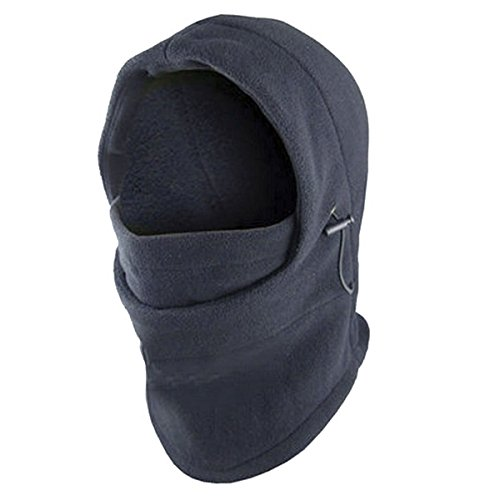 (Fleece Windproof Ski Face Mask Balaclavas Hood by Super Z Outlet (Gray),One Size)