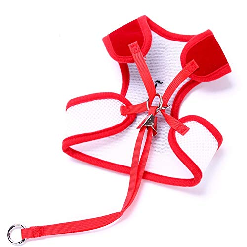 LoveIyPet Dog Leash Small Dog Teddy Vest-Style Bow Evening Dress Chest Straps Pet Supplies (Color : Red, Size : - Evening Bow