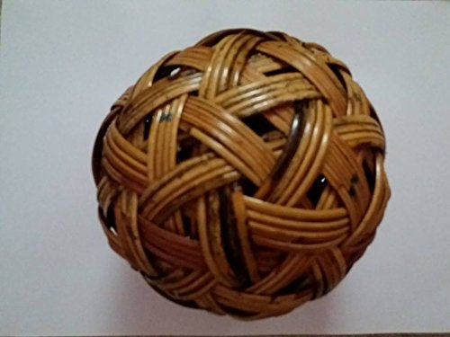 areeratshop Sepak takraw Thai Sports Ball Rattan Wood Handmade