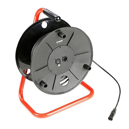 ah Cables K3CDDMX5030 Adam Hall Kabel 3 Star Serie (Kabeltrommel, 5-polig DMX/AES, 30 m) schwarz