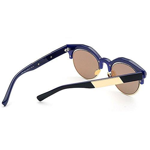 Montura Semi Negro Azul con de de Mujeres Color para Que Libre UV Lente la conducen Color sin de Que Protección viajan Gafas al Aire Sol qnvxSg7nA