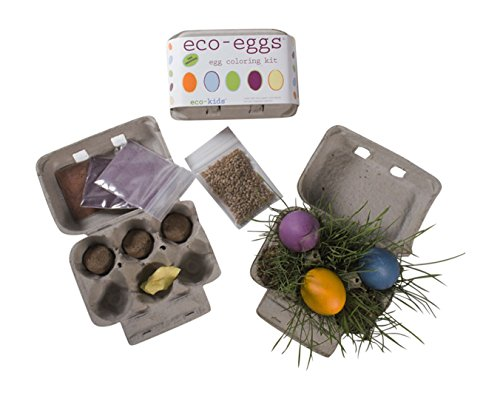 Eco-Kids Natural, Organic Easter Egg Coloring and Decorating Kit - 2 PACK