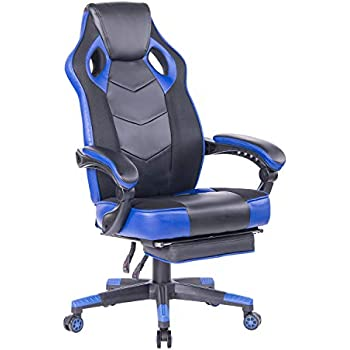 Amazon Com Healgen Gaming Chair With Footrest Racing