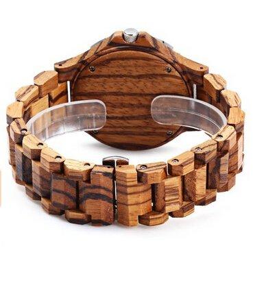 Bewell-W086B-Wood-Men-Watch-Analog-Quartz-Movement-Date-Display