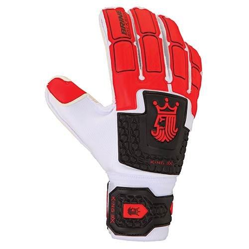 UPC 026585482475, Brine King Match 3X Goalkeeper Gloves (Red/Black/White, 6)