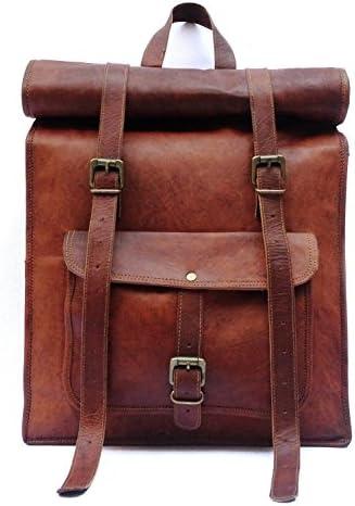 Leather Vintage Laptop Backpack Rucksack