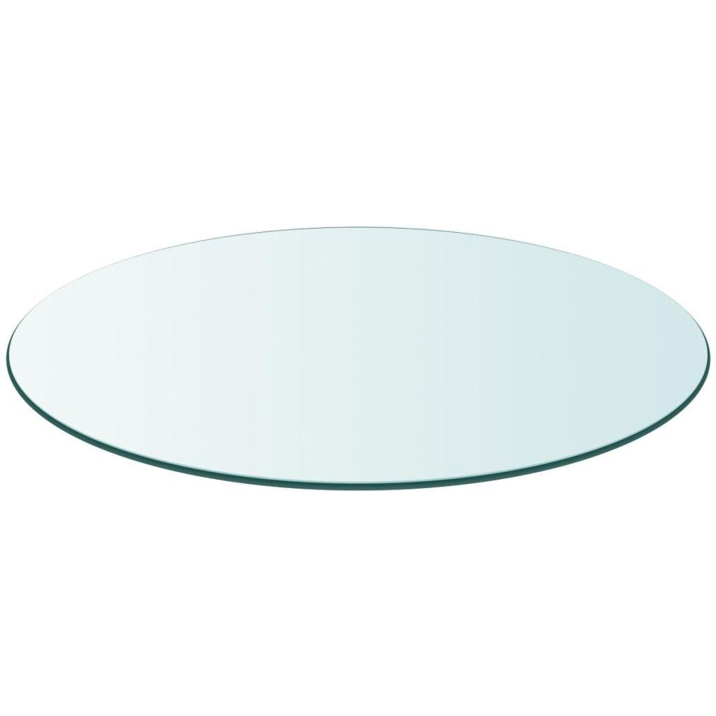 vidaXL Table Top Tempered Glass Round 11.8'' by vidaXL