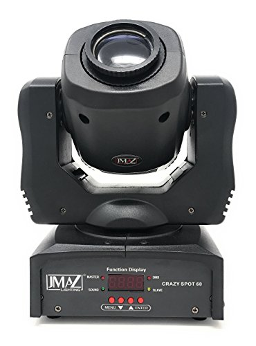 JMAZ Crazy Spot 60 Moving Head Light 60-Watt LED with 7 Gobo Patterns and 2 Lenses (Standard and Prism) For Stage Light Disco DJ Church Wedding Party Show Live Concert Lighting