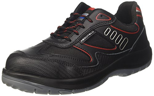 AboutBlu 1930010LA Eagle Black Red S3 Scarpe da Lavoro, Black Red
