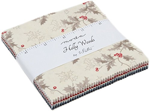Holly Woods Charm Pack By 3 Sisters; 42-5'' Precut Fabric Quilt Squares by MODA
