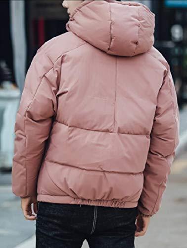 1 Hooded Jacket Short Men's Down Thicken Jacket Windbreaker Coat security Oz6qw