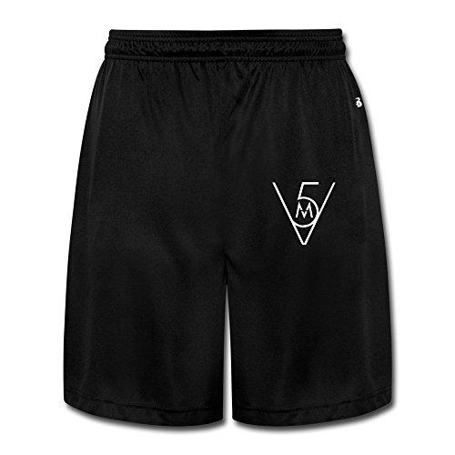 roce-mens-maroon-5-rock-band-adam-levine-james-valentine-trainning-shorts-xl-black